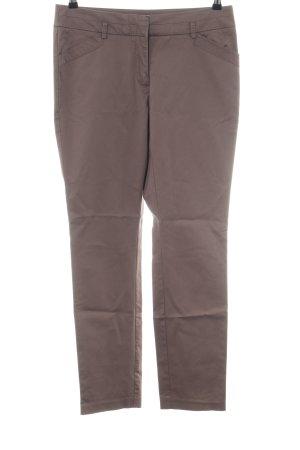 Comma Pantalón de tubo marrón estilo «business»
