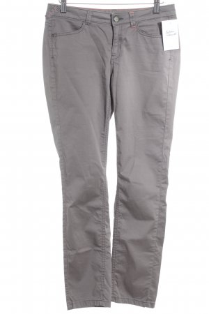 Comma Drainpipe Trousers grey brown casual look