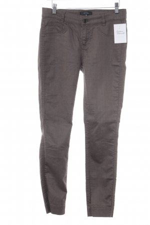 Comma Drainpipe Trousers grey brown weave pattern casual look