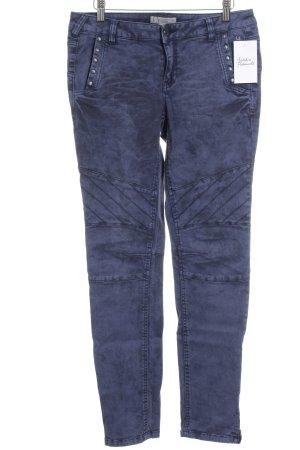 Comma Röhrenjeans dunkelblau-schwarz Batikmuster Jeans-Optik