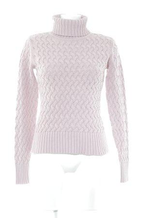 Comma Rollkragenpullover rosa Webmuster Casual-Look