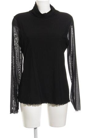 Comma Turtleneck Sweater black elegant