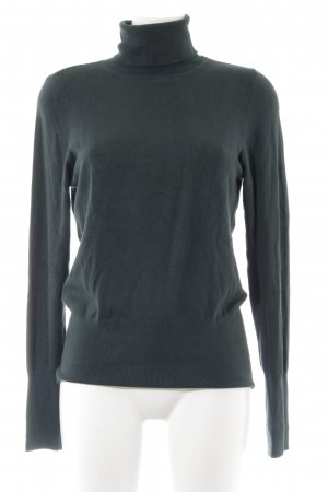 Comma Jersey de cuello alto verde bosque look casual