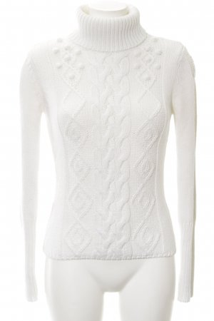 Comma Turtleneck Sweater natural white casual look