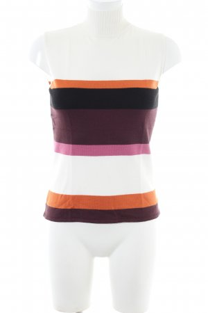 Comma Neckholder Top striped pattern casual look