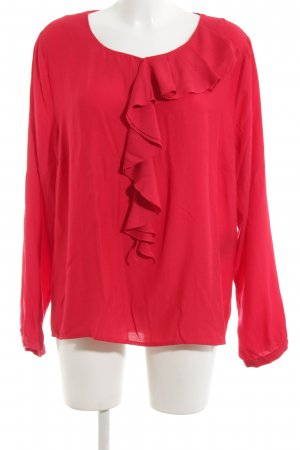 Comma Ruffled Blouse red casual look