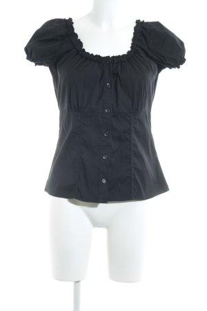 Comma Camicetta con arricciature nero elegante