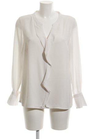 Comma Rüschen-Bluse weiß-wollweiß Elegant