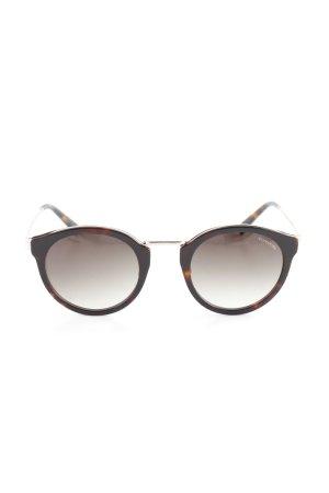 Comma Ronde zonnebril zwart-donkerbruin casual uitstraling
