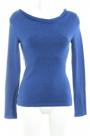 Comma Rundhalspullover blau Casual-Look