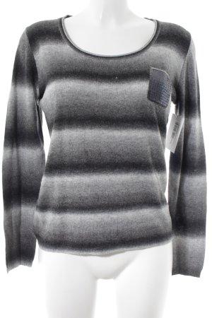 Comma Crewneck Sweater grey-light grey color gradient casual look