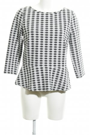 Comma Crewneck Sweater check pattern casual look