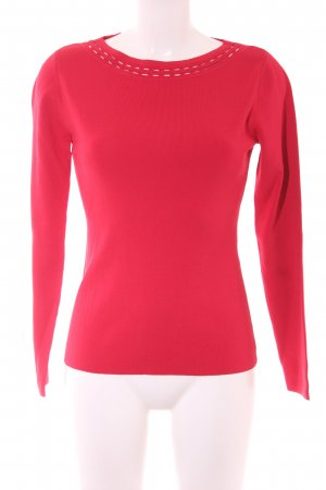 Comma Rundhalspullover rot Casual-Look