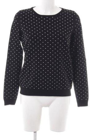 Comma Crewneck Sweater black spot pattern casual look