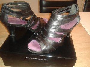 Comma Sandalo con cinturino nero Pelle