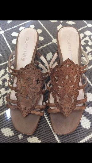 Comma High-Heeled Sandals brown