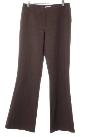 Comma Pantalón de campana marrón look casual