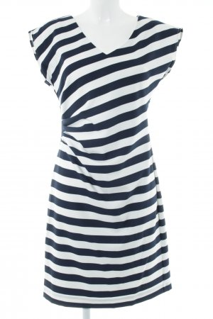 Comma Tube Dress natural white-dark blue striped pattern navy look