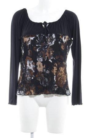 Comma Schlupf-Bluse abstraktes Muster schlichter Stil