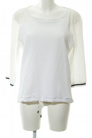 Comma Slip-over blouse wit zigzag patroon casual uitstraling