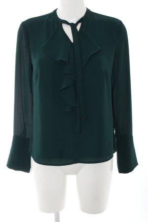 Comma Blusa con lazo verde estilo «business»