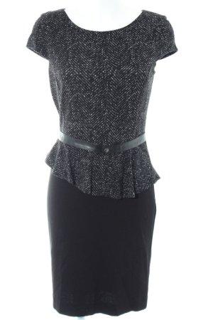 Comma Vestido peplum estampado con diseño abstracto estilo «business»