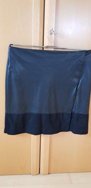 Comma Falda de cuero de imitación negro Imitación de cuero