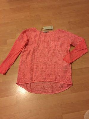 Comma Shirt Casual Identity 34 XS Koralle Lachs Bluse langärmlig neuwertig
