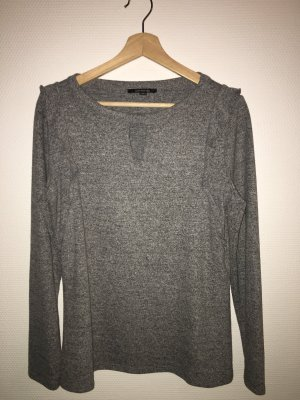Comma V-Neck Shirt light grey-grey