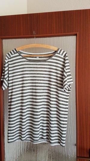 Comma Camiseta blanco puro-caqui