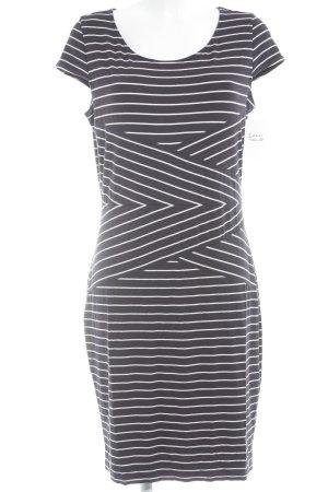 Comma Shirtkleid dunkelblau-weiß Streifenmuster Casual-Look