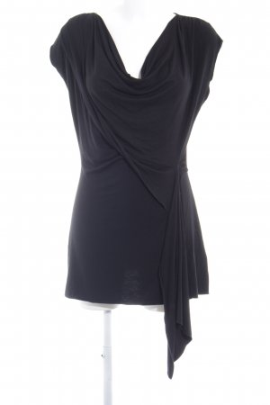 Comma Vestido estilo camisa negro look casual
