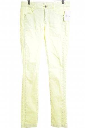 Comma Skinny Jeans hellgelb Casual-Look
