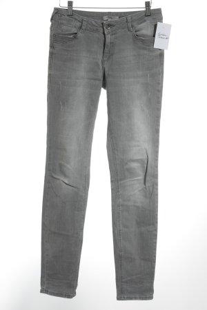 Comma Skinny Jeans hellgrau Jeans-Optik