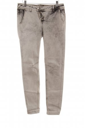 Comma Skinny Jeans hellgrau-schwarz Farbverlauf Casual-Look