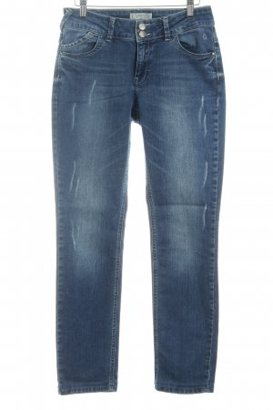 Comma Slim Jeans blau Casual-Look