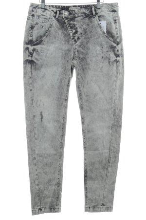 Comma Slim Jeans cream-black color gradient Logo application (leather)