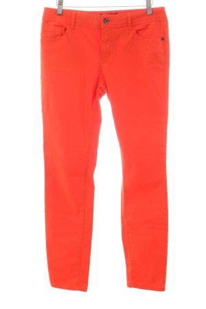 Comma Slim Jeans neonorange extravaganter Stil