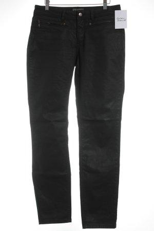 Comma Slim Jeans schwarz Rockabilly-Look