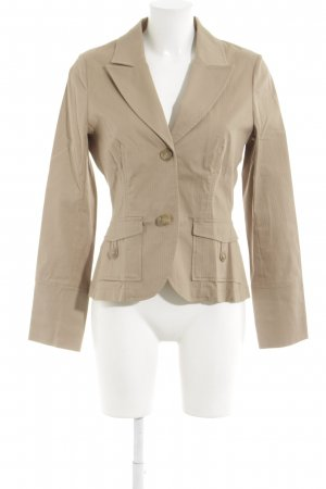 Comma Smoking-Blazer beige Nadelstreifen Business-Look
