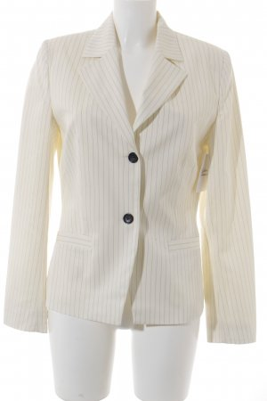 Comma Smoking-Blazer creme-schwarz Nadelstreifen Business-Look