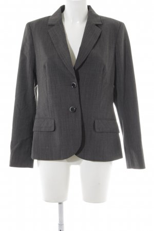 Comma Tuxedo Blazer dark grey flecked business style