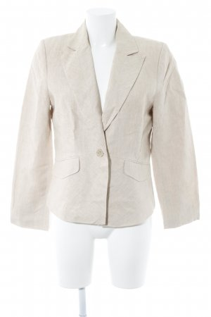 Comma Smoking-Blazer goldfarben-creme Glitzer-Optik