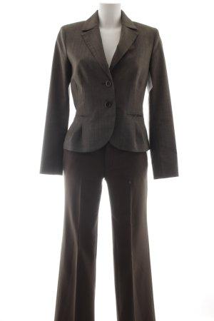 Comma Blazer de esmoquin marrón grisáceo moteado estilo clásico