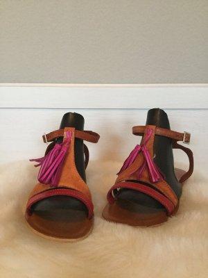 COMMA -sommerliche Sandalen aus Leder