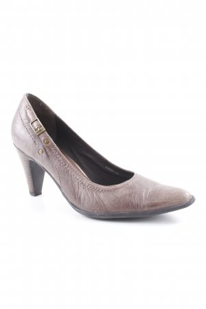 Comma Spitz-Pumps graubraun Country-Look
