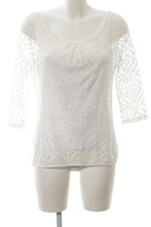 Comma Spitzenbluse weiß Elegant