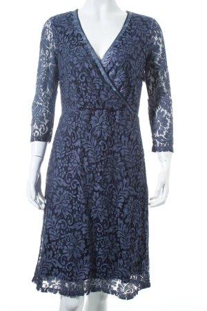 Comma Spitzenkleid blauviolett Romantik-Look