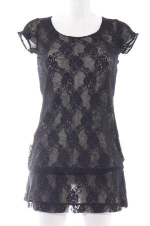 Comma Spitzenkleid schwarz-creme Elegant