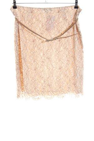 Comma Falda de encaje nude elegante